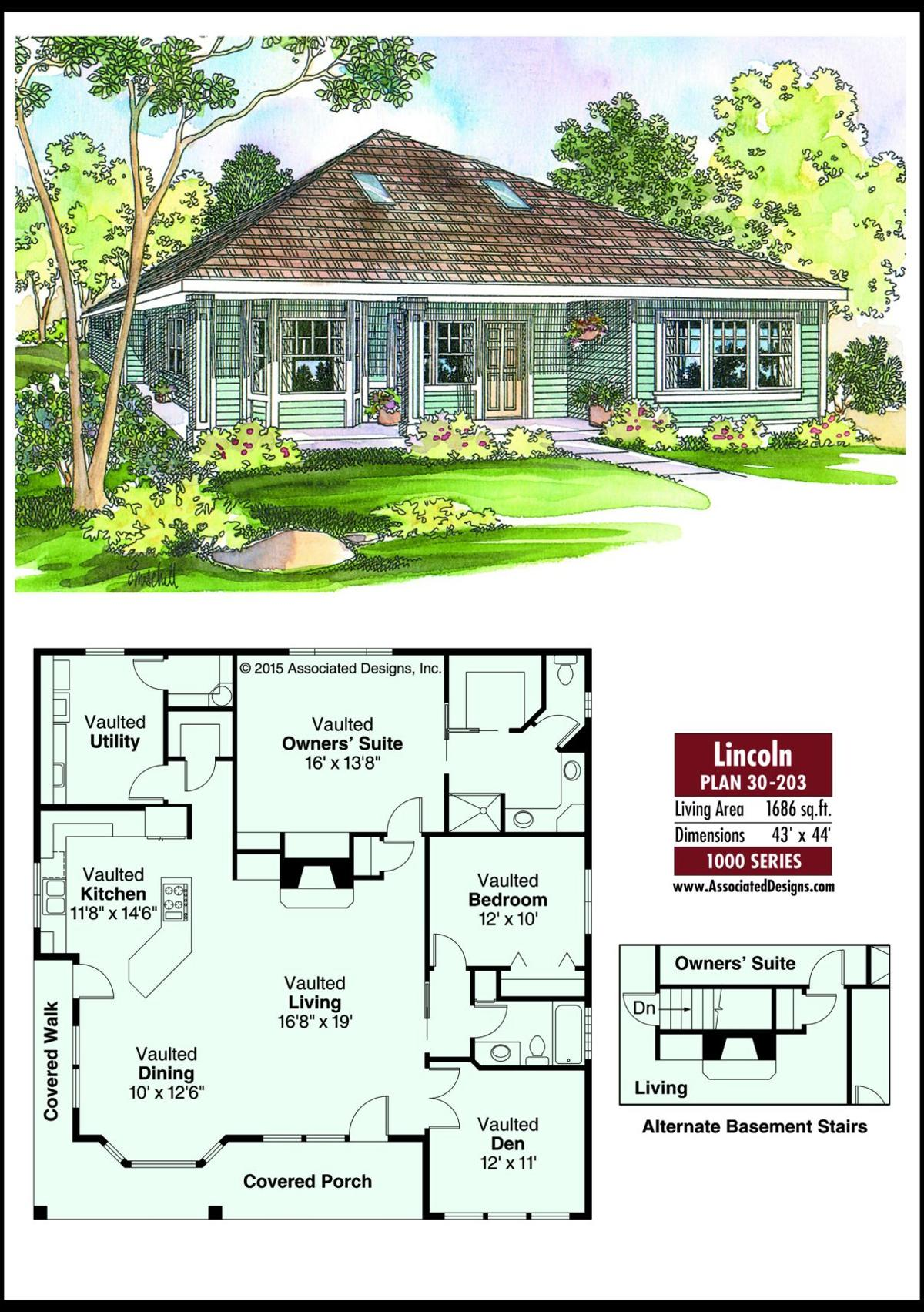 This week's house plan Lincoln 30-203
