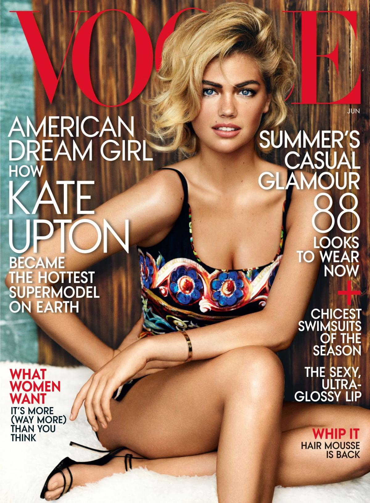 Kate Upton graces cover of June issue of 'Vogue'