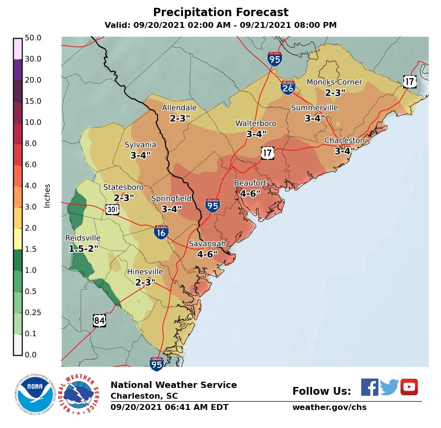 Precipitation forecast 9/20