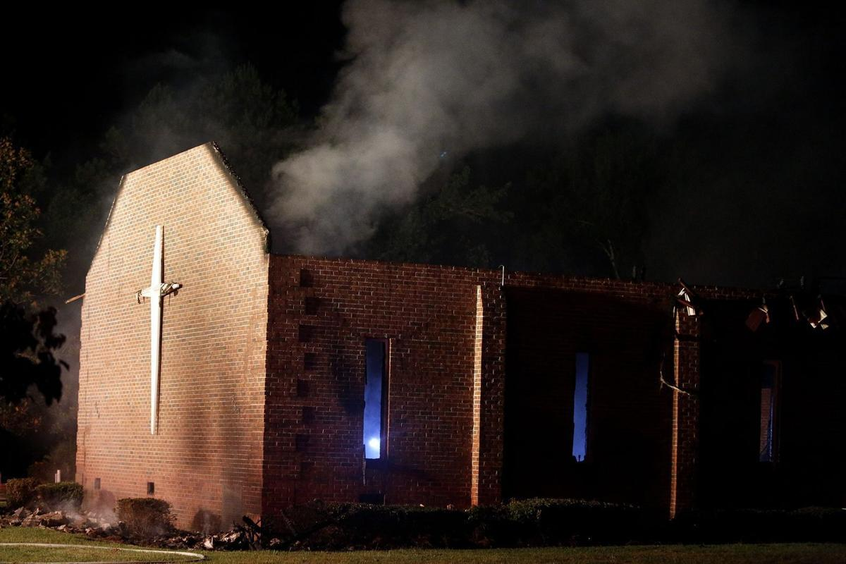 Lightning strike likely caused Mount Zion fire