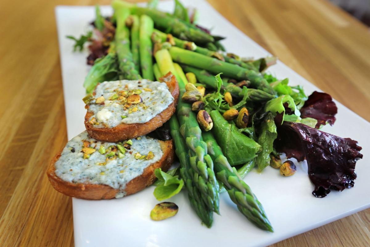 Spring Asparagus and Baby Greens