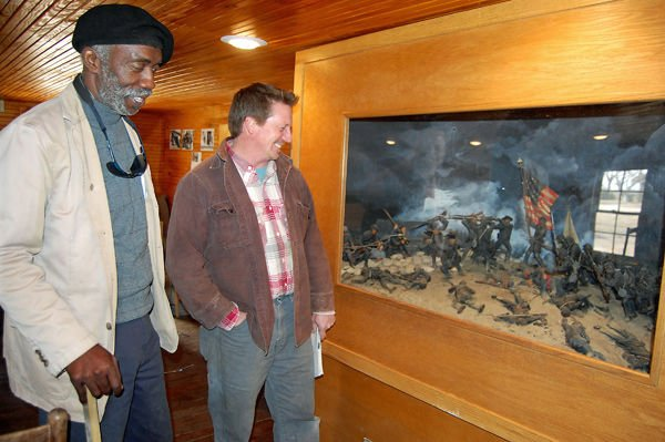 Depiction of local Civil War battle finds new home at restored lodge
