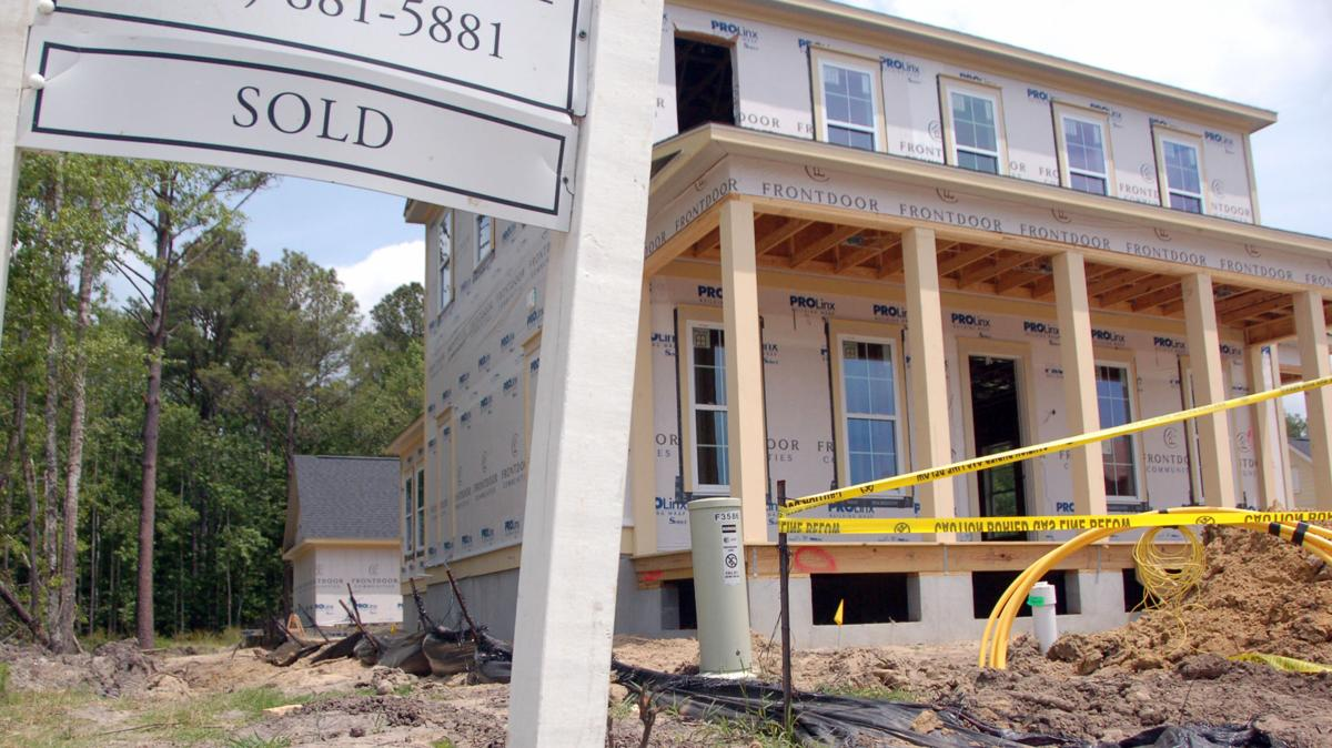 New homes under construction in Carolina Park in Mount Pleasant