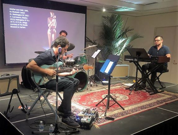 The Lee Barbour Trio perform at the Art of Jezz series