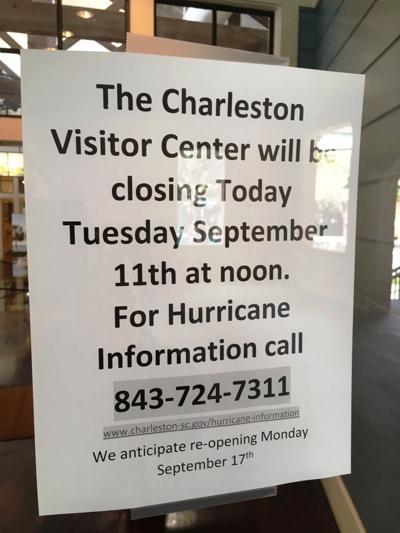 Charleston Visitor Center closed