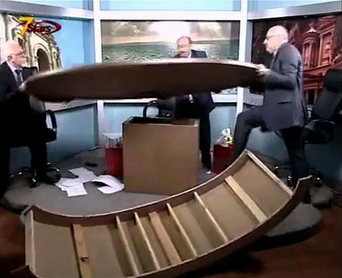 Journalists in Jordan fight on live TV talk show