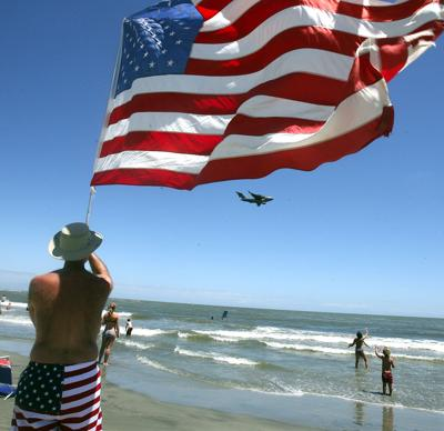 July Fourth 'Salute from the Shore' of military aircraft flying again this year (copy)