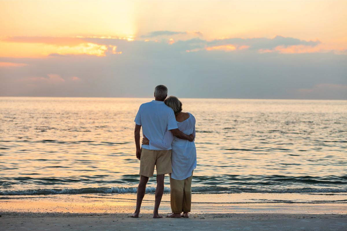 Boomer beach couple