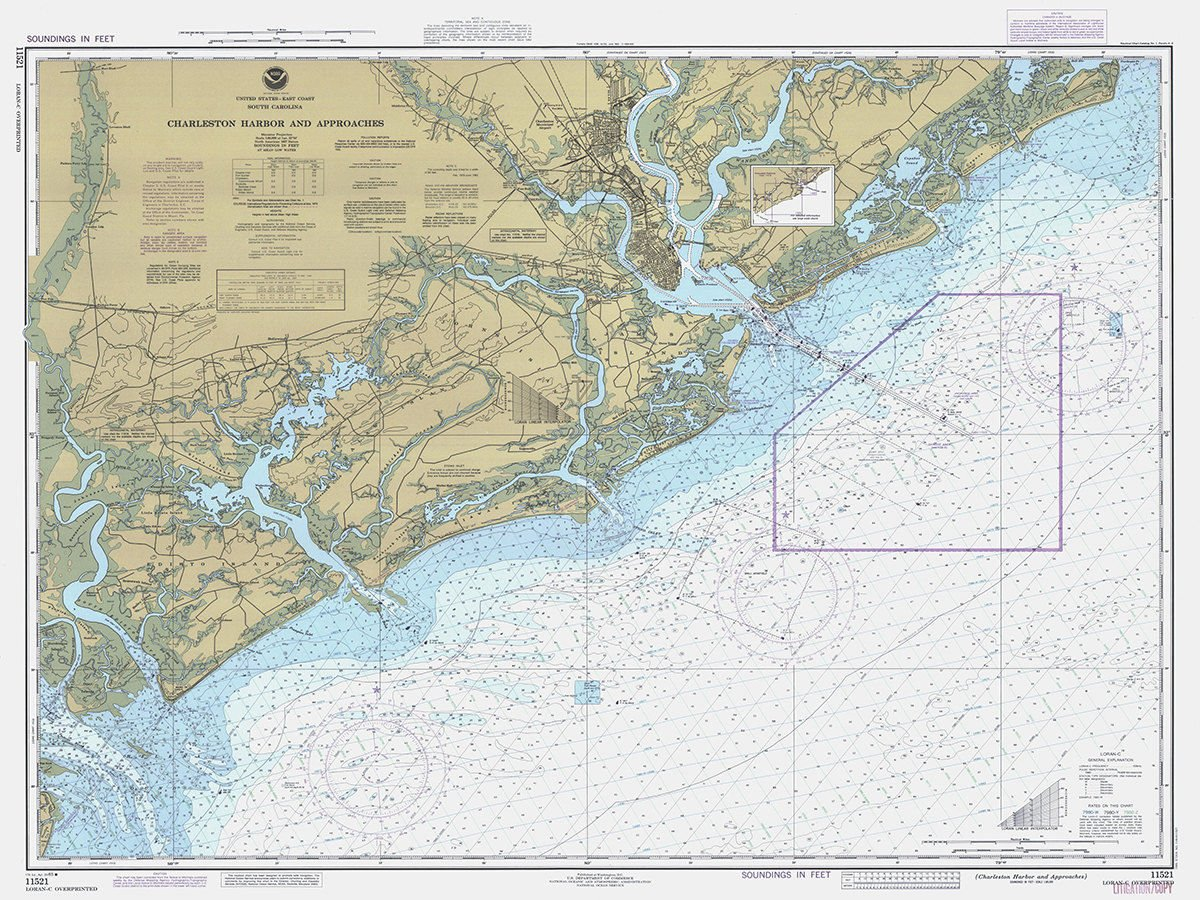 A 1 square nautical mile spot just east