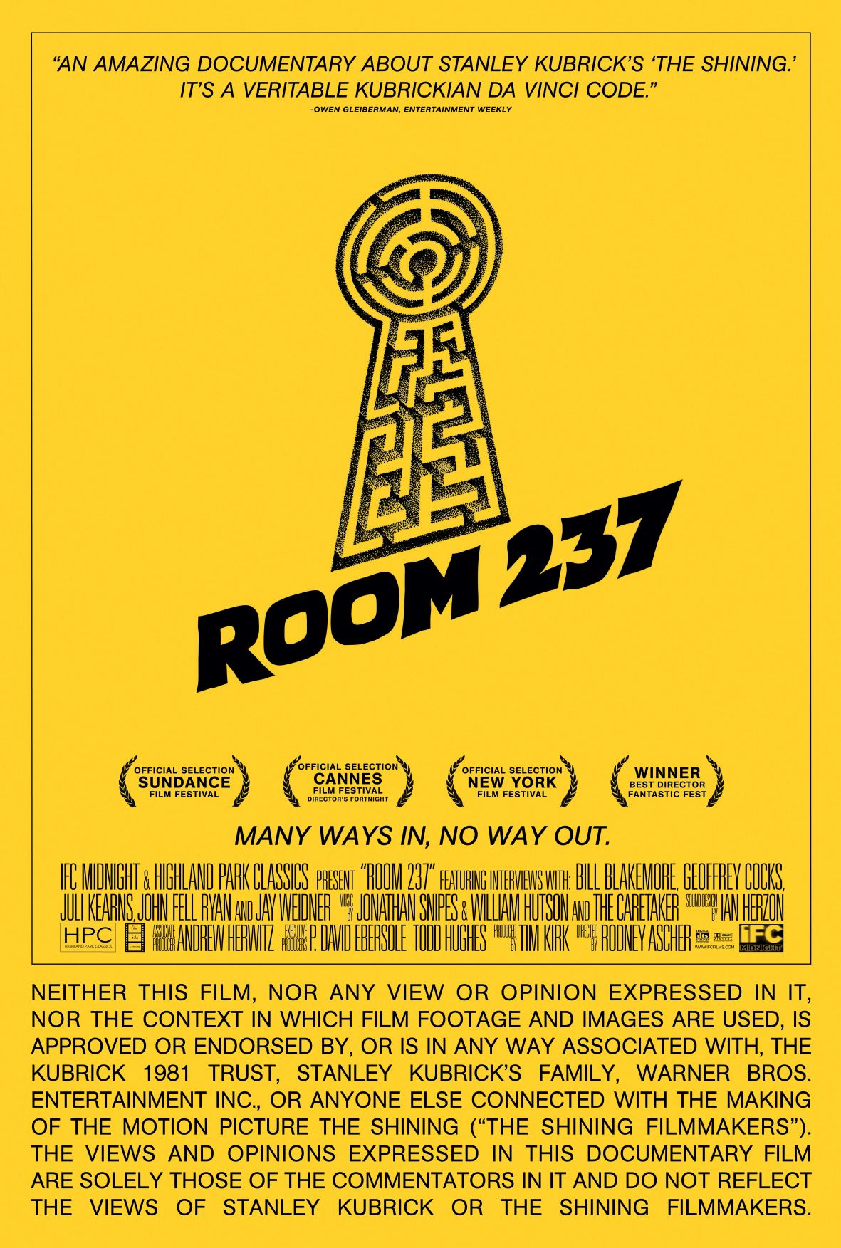 `ROOM 237': FANS POSSESSED BY `THE SHINING'
