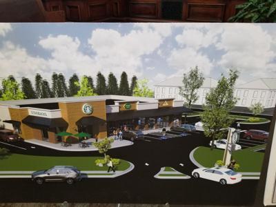 Starbucks on Millwood rendering 2019