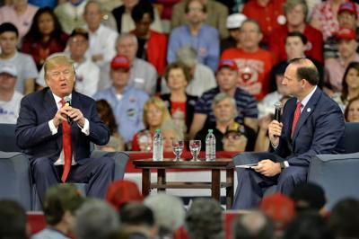 Trump draws thousands to stop in AikenTrump in town today at USCA (copy)