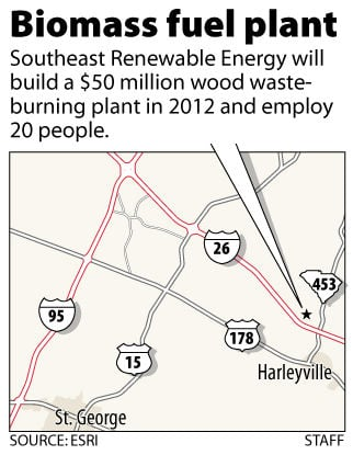 $50 million biomass fuel plant to be built near Harleyville