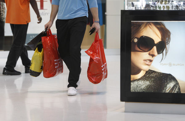 Shoppers help give economy a boost