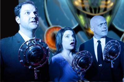 Comics on the stage 'Intergalactic Nemesis' inspired by graphic novels, radio plays