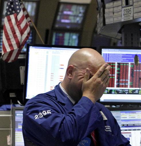 Stocks fall sharply on bad news
