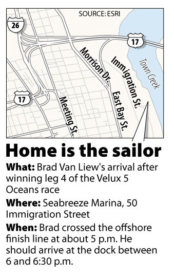 UPDATE: Van Liew arrives in Charleston, wins fourth leg of Velux race