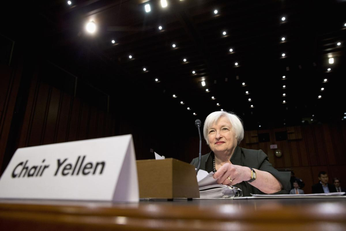 Tepid data may temper outlook as Fed Chair Yellen gives report