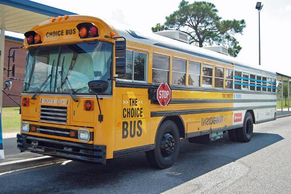 Bus teaches Sedgefield students importance of education, good behavior
