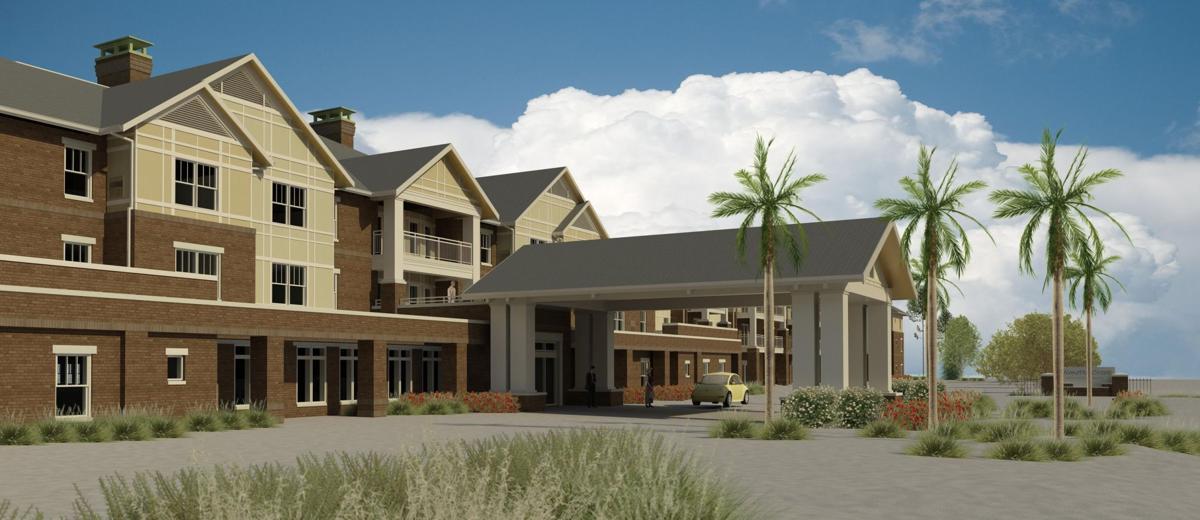 New retirement community building on Daniel Island