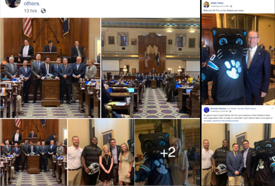 Panthers visit SC State House