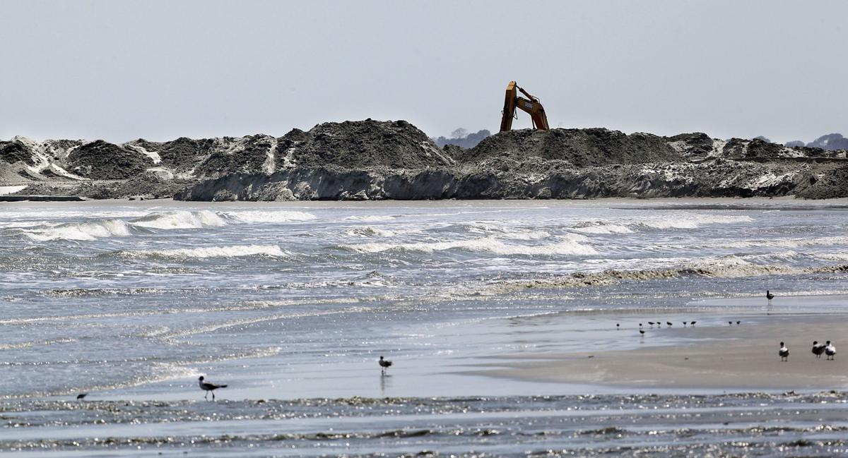 Eroding Folly sees no sand Other beaches already have storm relief funds