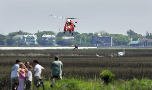 Father, son unhurt after plane crash in Mount Pleasant marsh