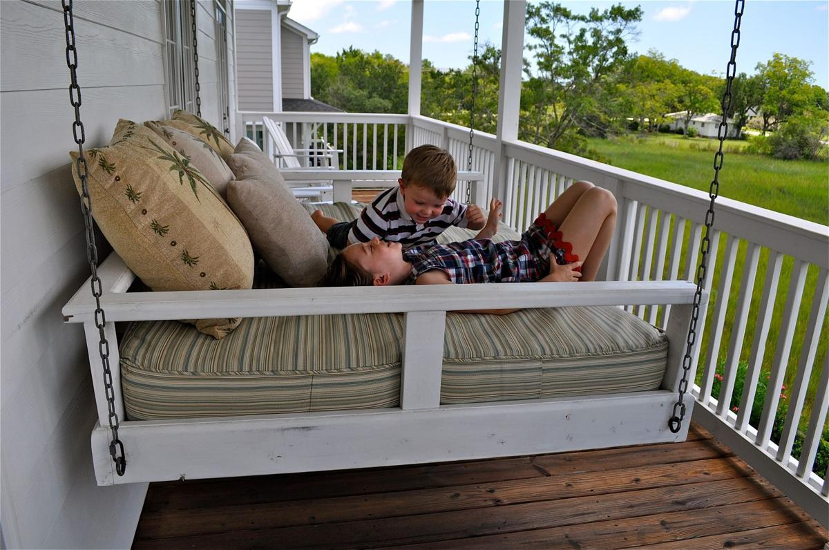swing design porch ideas rustic home bed