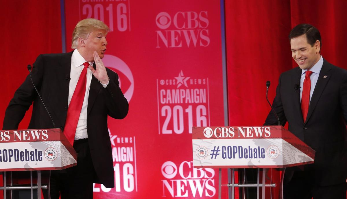 GOP brawls in Greenville Bush, Trump lash out, Rubio and Cruz go at each other in heated debate