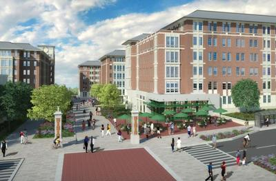 USC Campus Village from Whaley Street (artist's rendering)