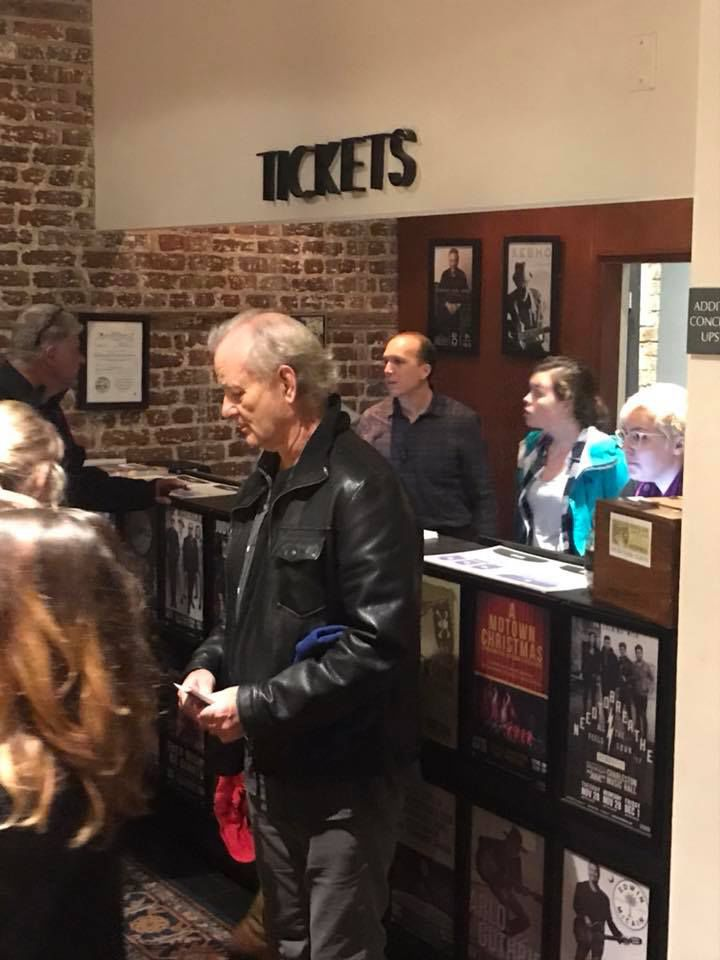 bill murray bought tickets and handed them out to the box office line at music hall charleston. Black Bedroom Furniture Sets. Home Design Ideas