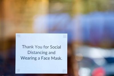 Thank You Sign, Masks, Downtown Aiken