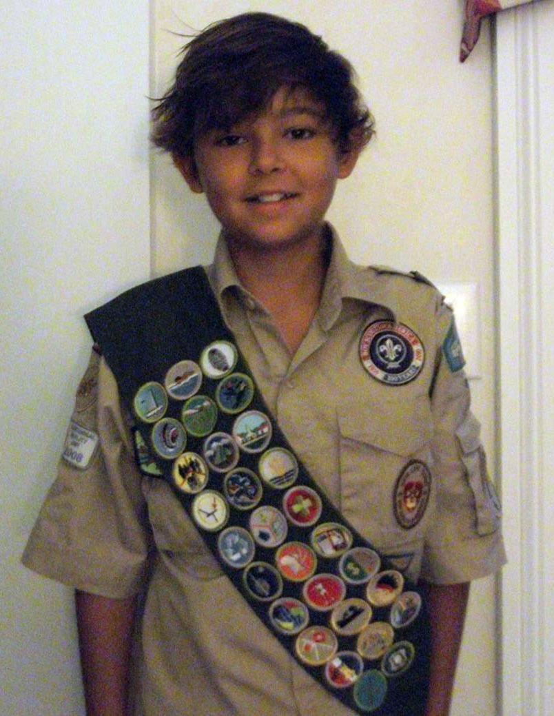 12-year-old Boy Scout earns Eagle award