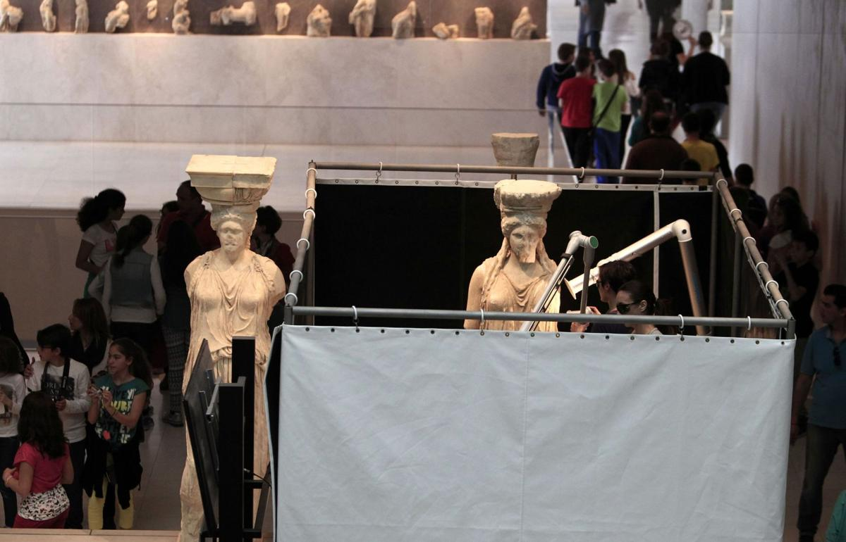 Caryatids get 'cosmetic surgery'