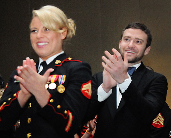 Marine has a ball with Timberlake