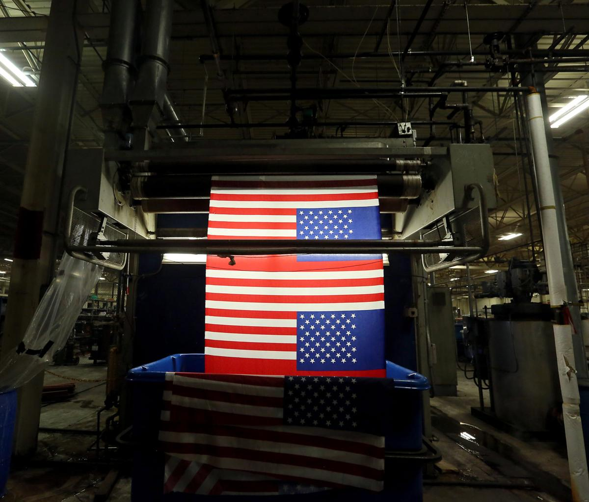 Made in the USA: Flag maker works with Wal-Mart to produce