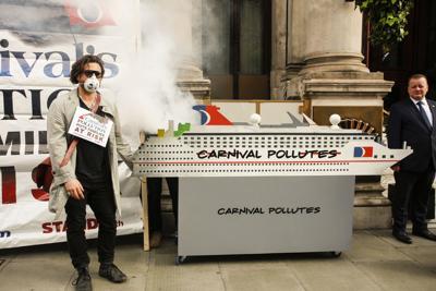 Carnival protester