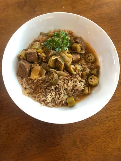 Sam Lynah's okra soup