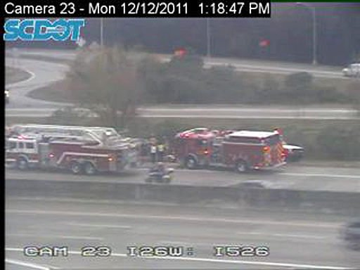 LIVE TRAFFIC UPDATE - Authorities working two wrecks on I-26 eastbound near I-526