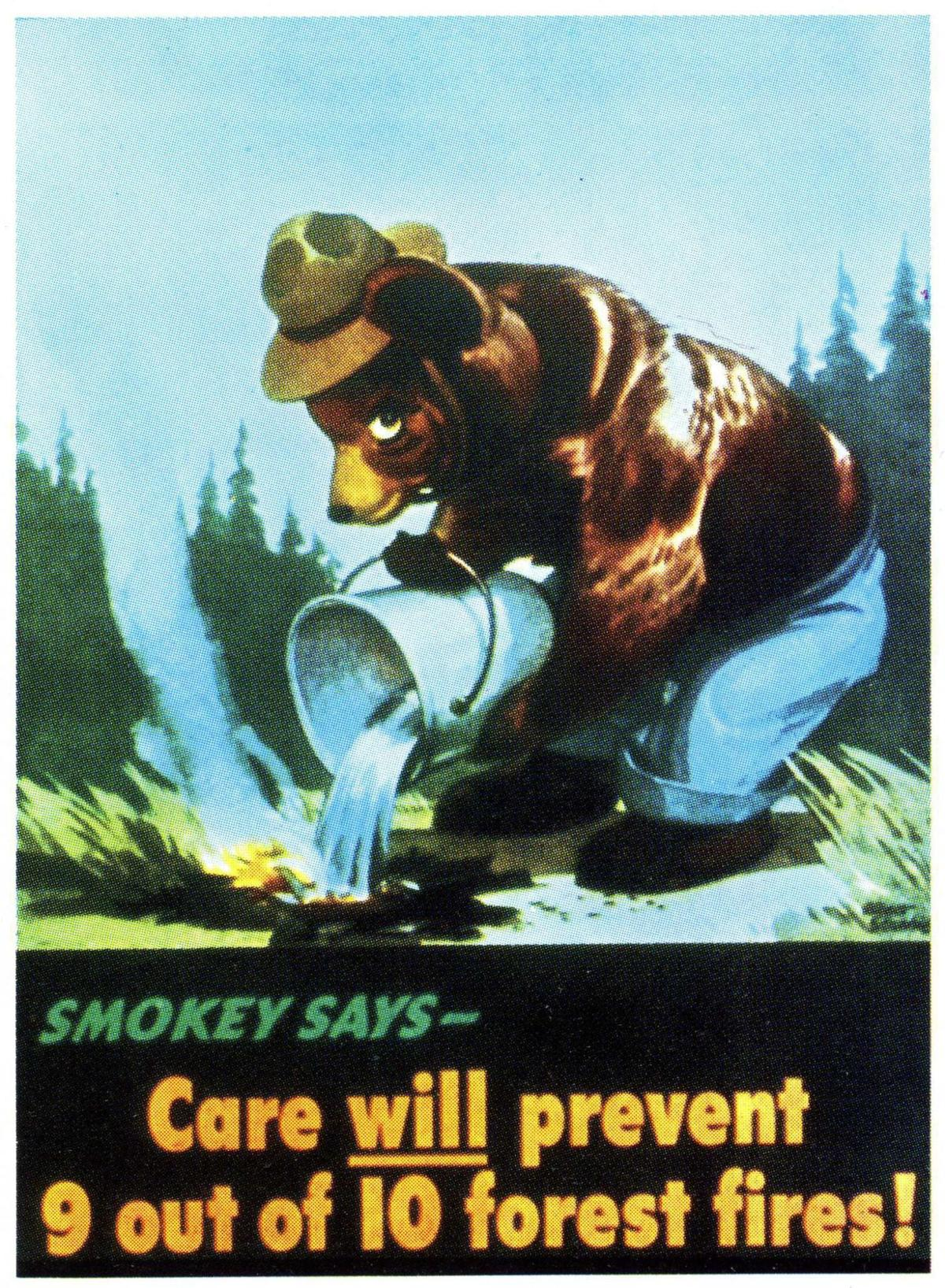 Smokey Bear turns 70, but don't bring candles