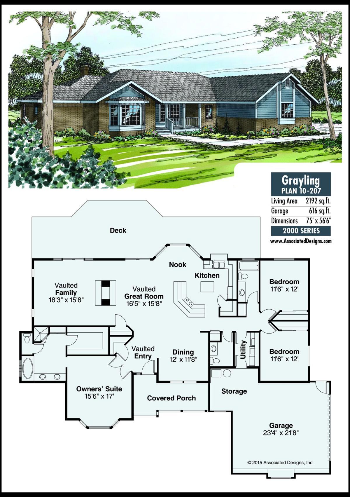This week's house plan Grayling 10-207