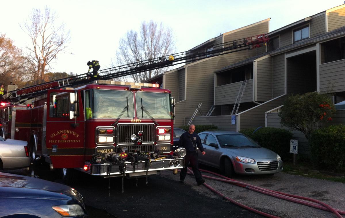 West Ashley condo fire extinguished