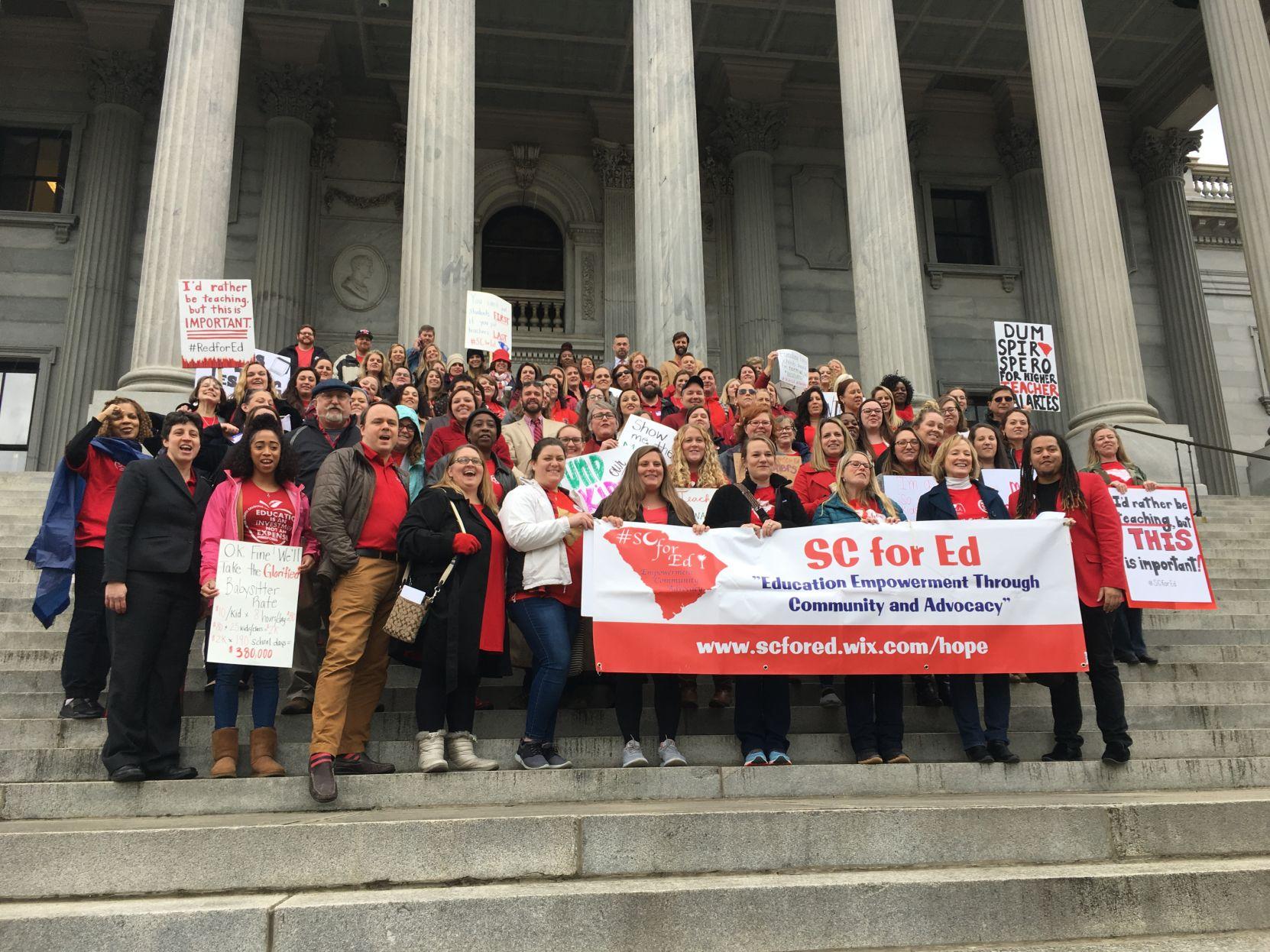 Teachers on Money Matters lobby day (copy) (copy)