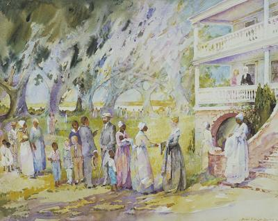 The quandary of Alice Smith Series by famed watercolorist soothes the eye, raises questions
