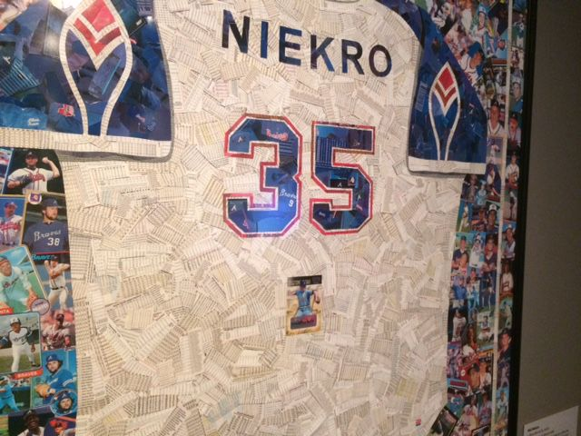 Phil Niekro baseball card jersey Hall of Fame