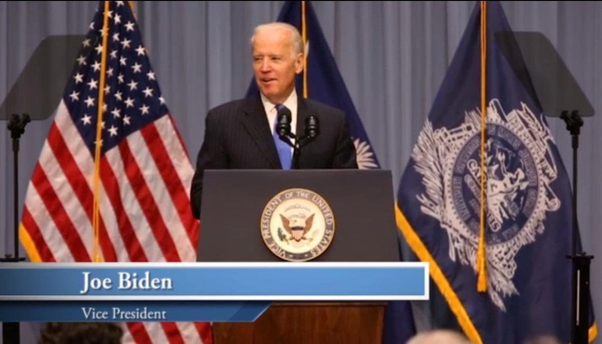 Vice President Joe Biden on Mayor Joe Riley