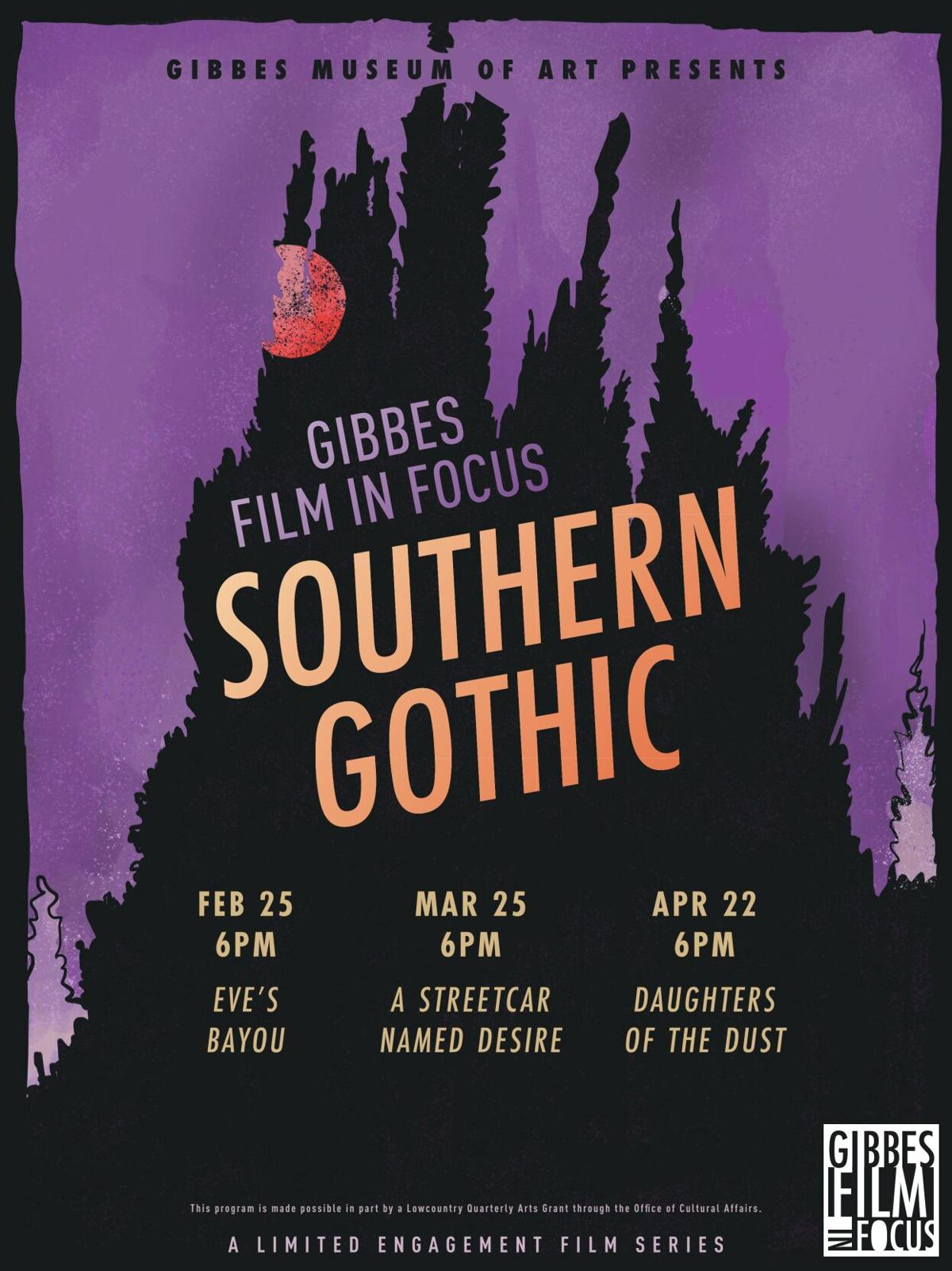 Gibbes Southern Gothic film series poster