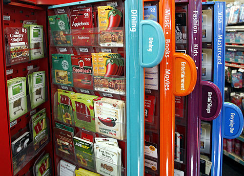 Gift cards may not be right present for teens