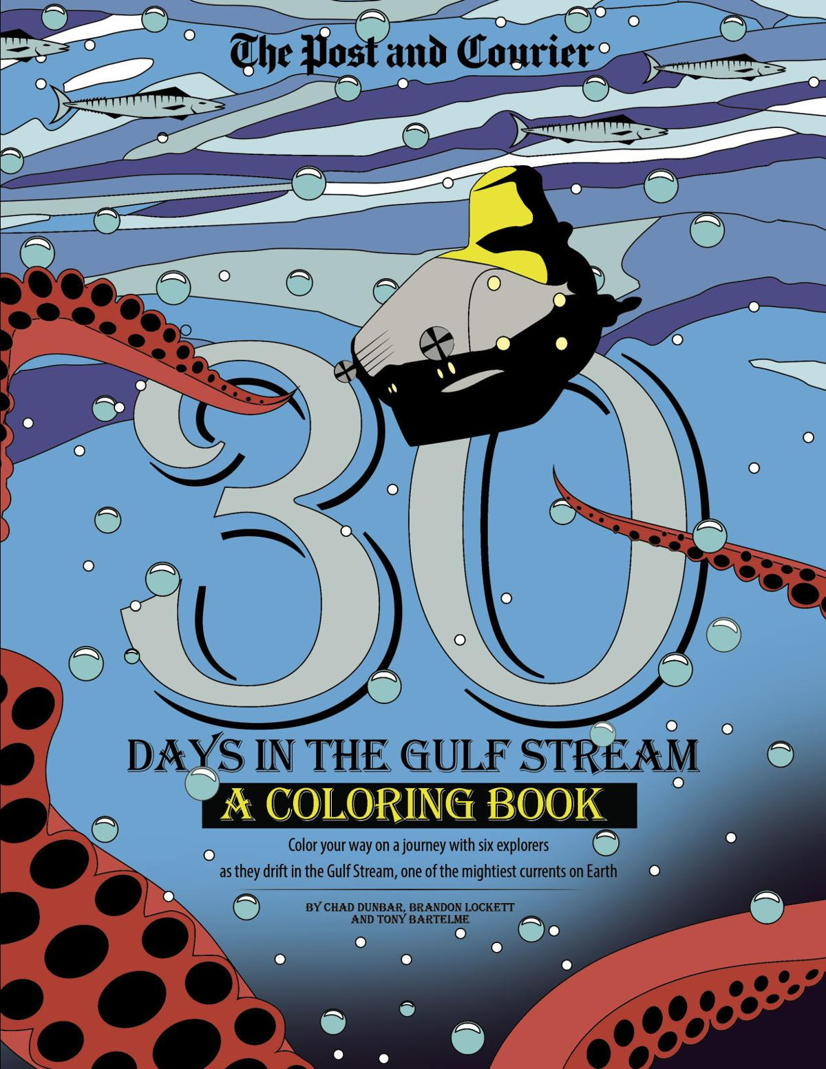 Days in the Gulf Stream: A coloring book