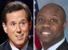 Santorum to join Scott's town hall